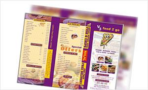 menus design Portfolio